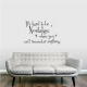 Its hard wall decal quote