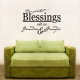 Our Greatest Blessings Call Us Grandma & Grandpa Wall Art Vinyl Decal Sticker Quote