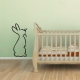 Hoppin Bunny Wall Decal