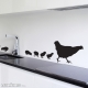 Family of Chicks Wall Art Decal