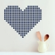 Grid Heart Wall Decal