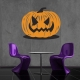 Pumpkin wall decal