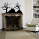 Graveyard wall decal