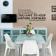 Keep Moving Forward Wall Quote Decal