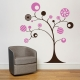 Whimsical Candy Circle Tree Wall Art Decal