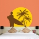 Tropical wall decal