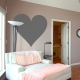 Heart wall decal