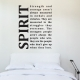 Spirit quote wall decal