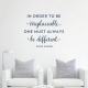Be Different Chanel Wall Quote Decal