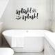 Splish Splash Wall Quote Decal