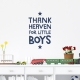 Thank Little Boys Wall Quote Decal