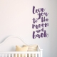 To The Moon And Back Wall Quote Decal