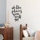Places You Will Go Wall Decal