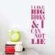 Big Books Wall Quote Decal