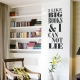 Big Book Wall Decal Black