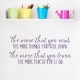 More You Know Wall Decal Violet