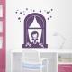 Princess Window Wall Decal Violet