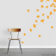 Simple Ginkgo Wall Decal Leaves - Set Eleven