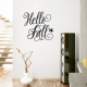 Hello Fall Wall Decal in Black