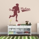 Male Lacrosse Player Custom Name Wall Decal