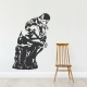 Auguste Rodin's The Thinker Wall Decal