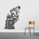 Rodin's The Thinker Wall Decal in Dark Grey