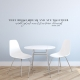 Sincere Hearts Wall Quote Decal