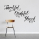 Thankful Grateful Blessed Wall Decal in Black