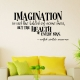 Imagination wall decal quote