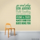 Go and Play Wall Quote Decal