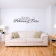 Patience and Time Wall Decal