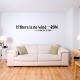If there is no wind Wall Decal