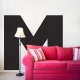 Large Letter Wall Decal in Black