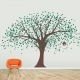 Ginormous Nursery Tree Decal - Two Color Leaves