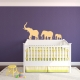 Marching Elephants Wall Decal