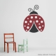 Dark Red and Black - Lovely Ladybug Wall Decal