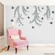 Butterflies and Vines Wall Decal