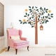 Four Bird Tree Wall Decal