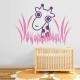 Giraffe in the Grass Wall Decal