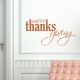 Happy Thanksgiving III Wall Decal