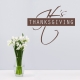 Thanksgiving Wall Quote Decal