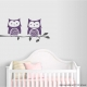 Owl Pair on Branch Wall Decal
