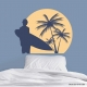 Surfer's Paradise Wall Decal