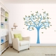 Swirly Butterfly Tree Wall Art Decal