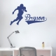 Football Player and Name Wall Art Decal
