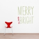 Merry And Bright Wall Art Decal