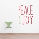 Peace and Joy Wall Art Decal