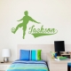 Soccer Name Wall Art Decal