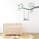 Two Owls on a Branch Swing Wall Decal
