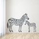 Zebra Family Wall Art Decal